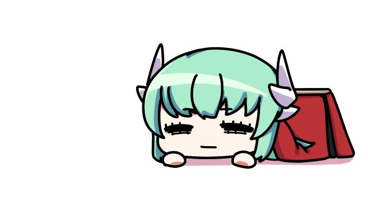 こたつで寝てしまう清姫