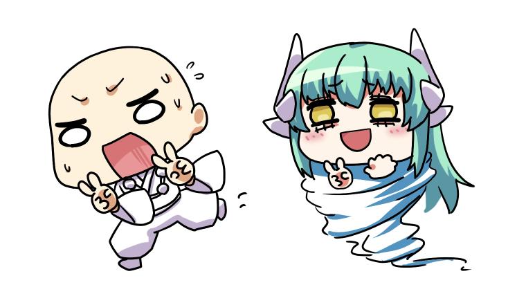 逃げる安珍と竜巻清姫