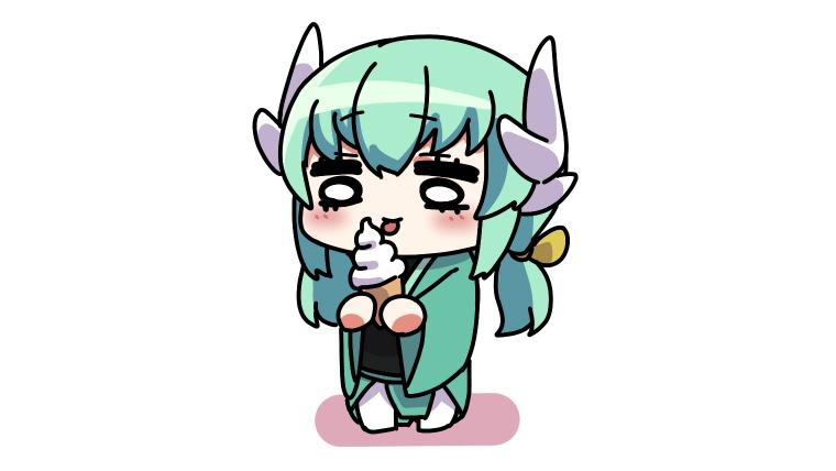 ソフトクリームを舐める清姫