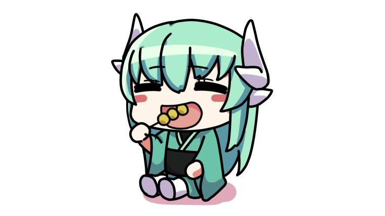 団子を食べる清姫