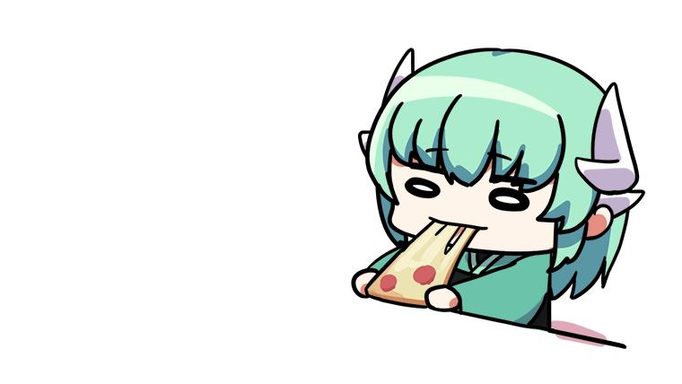 ピザを伸ばす清姫