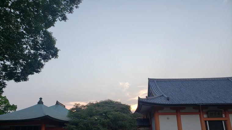 道成寺の夕暮れ